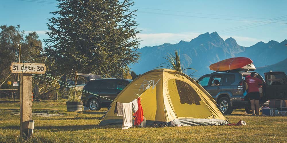 Rent a car with camping gear